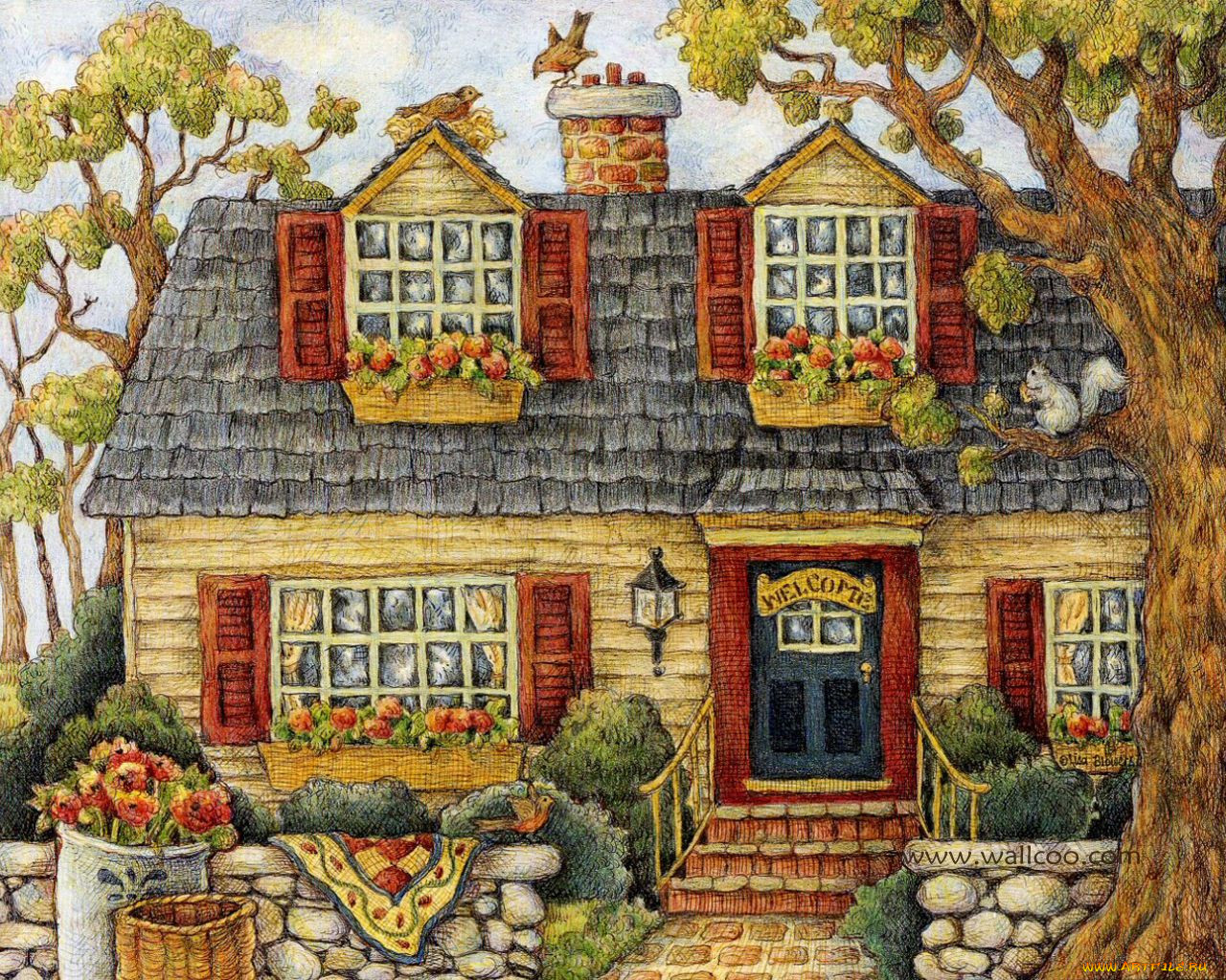 коллекция картинок домашних